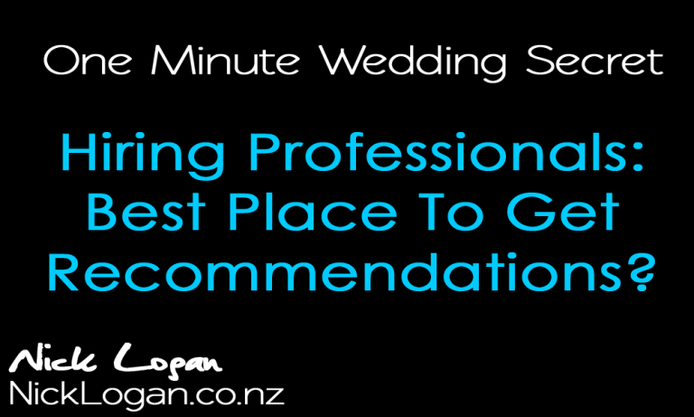 How to choose when hiring a wedding professional