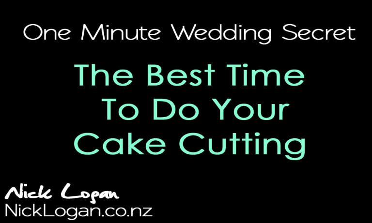 Timesaving Wedding Cake Cutting Trick
