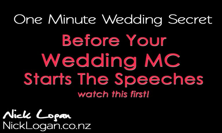 Before your wedding MC turns on the microphone for the speeches, watch this!